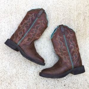 Justin Gypsy Western Boots brown teal